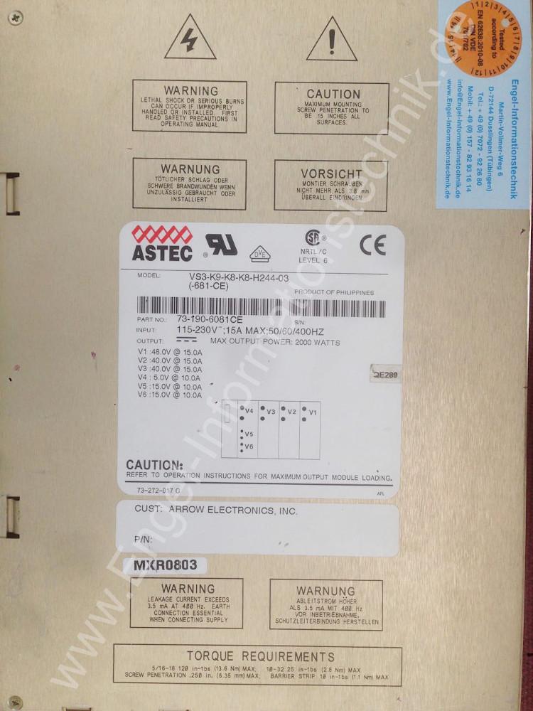 Astec-Netzteil VS3-K9-K8-K8-H244-03