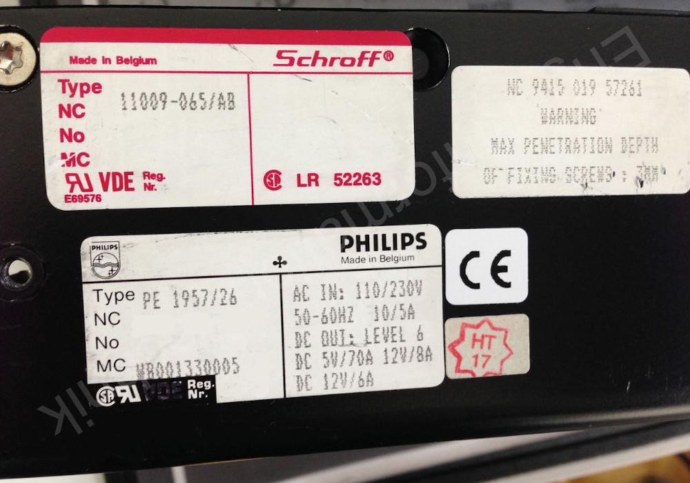 Schroff 11009-065/AB oder Philips PE 1957/26