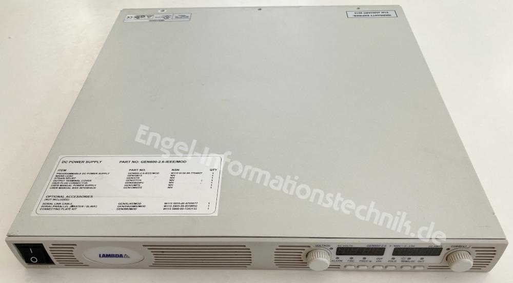 Lambda GEN600-2.6 (GEN1500W), Labornetzgerät
