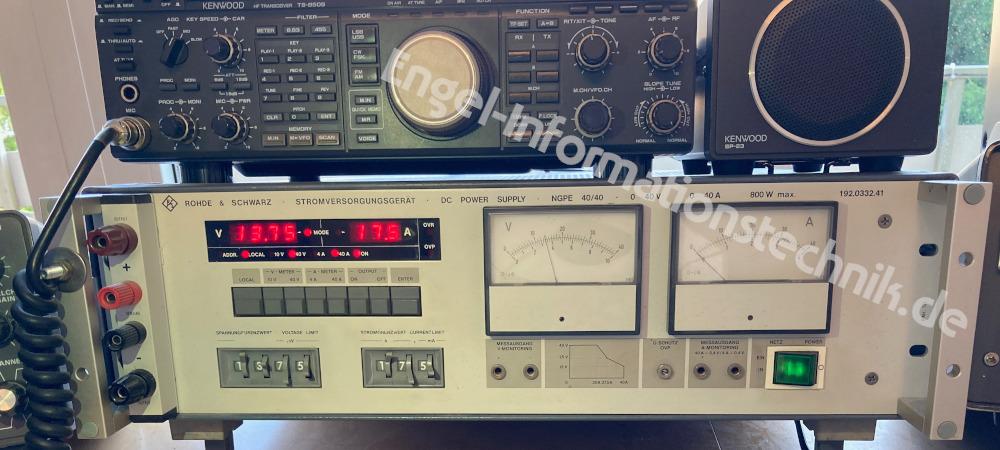 Rohde & Schwarz NGPE 40/40, Labornetzgerät an einer Funkstation